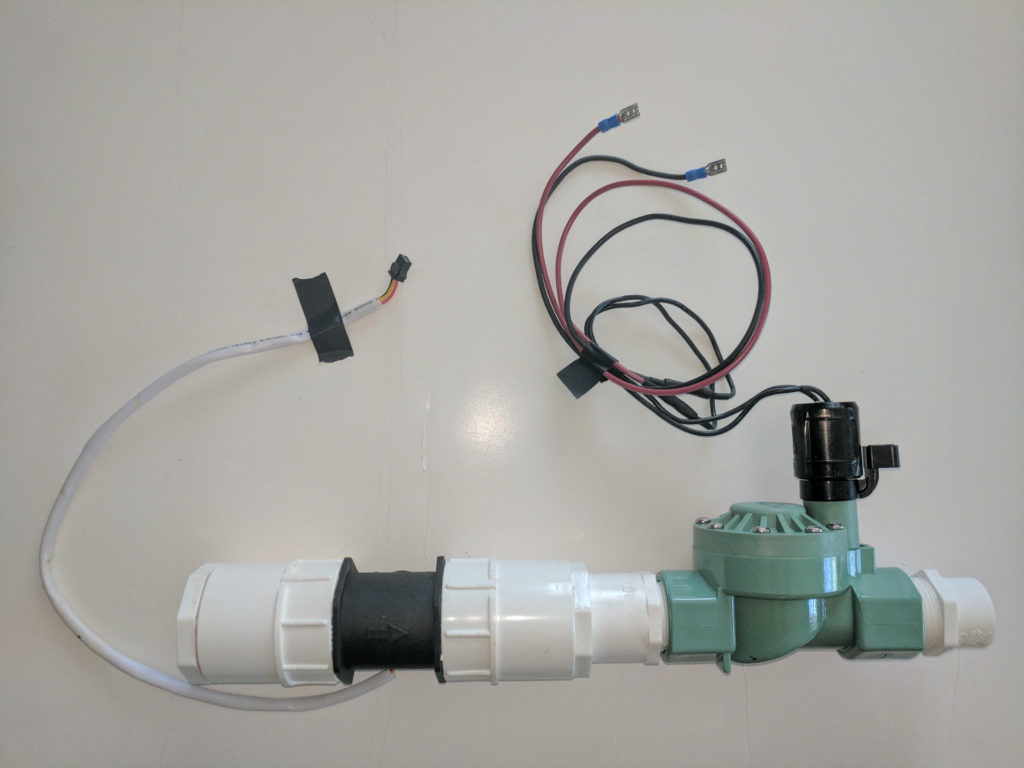 Flow sensor and sprinkler valve